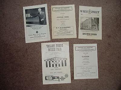 Vintage LOT of 5 THEATRE PROGRAMS   PLAY BILLS, Bye Bye Birdie & More