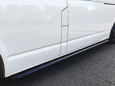 Black Side Bars Curved 60mm Steel Protection Bar VW Transporter T5 (03-15) [SWB]