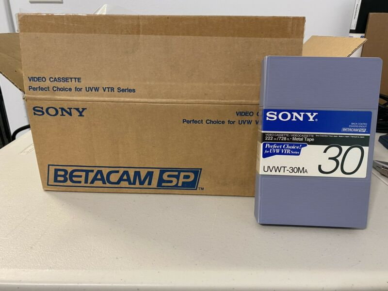Sony Betacam SP Metal Tape UVWT-30MA 30 Minute Tape Box of 10