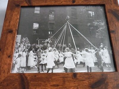 Britain yesterday & today carlton Framed black white 1920s maypole