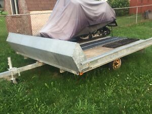Trade double sled trailer for single sled trailer