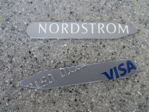 NORDSTROM VISA custom collar stays for dress shirts