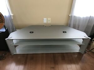 Glass 3-tier TV Stand