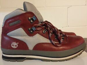 Red Men's Timberland Boots Size 11.5