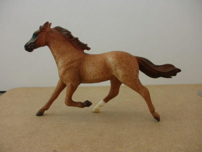 Breyer Stablemate plastic horse running pacer Roan Standardbred model