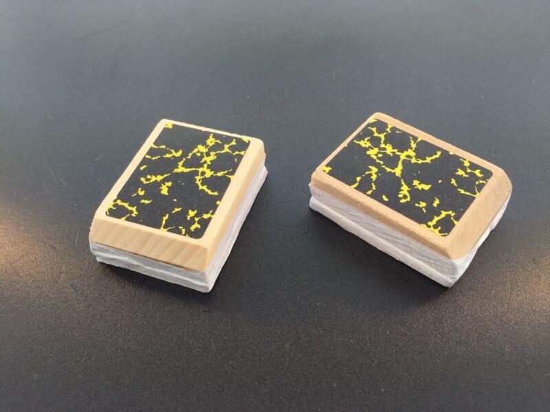 "Cuckoo Clock Bellow Tops One Pair of 1 1/4 x 1 3/4""  German Made"