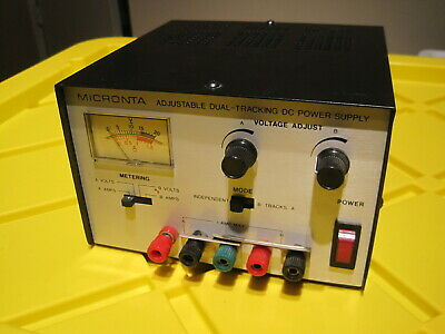 Micronta Adjustable Dual 0-15 Volt Dc 1 Amp Tracking Power Supply With Meter