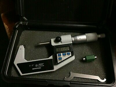 Mitutoyo 293-712 Digital Micrometer 1-2.00005. 1 In Standard Fresh Battery