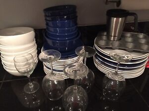 Assorted dishes and glassware