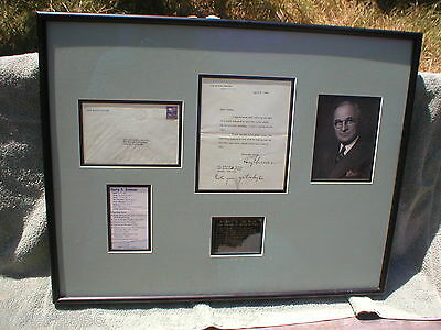 PRESIDENT HARRY S.TRUMAN TYPED LETTER, HAND SIGNED With WHITE HOUSE LETTERHEAD.
