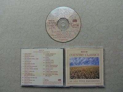Best Of Country Classics 60 All Time Favorites Vol. 1 CD Country 1996 (Best Classical Albums Of All Time)