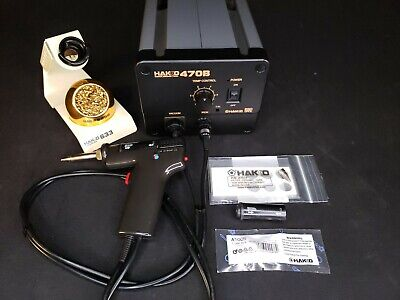 Hakko 470b Desoldering Station With 802 Gun And Accessories - Clean Tested