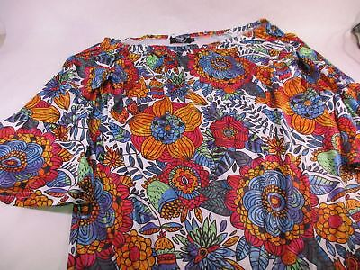 For G & PL Women's Vintage Flare Sleeve Off-Shoulder Dress Flower XXL NEW