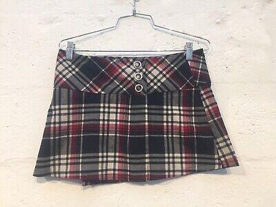 HEART MOON STAR Women's Skirt Size 0 School Girl Plaid Sexy Mini Club Vintage