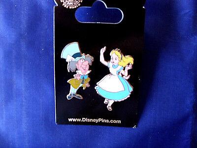 Disney Mad Hatter (Disney * ALICE & MAD HATTER * Retired - New on Card Wonderland Trading 2 Pin Set)