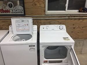 Electric GE washer and Moffat dryer