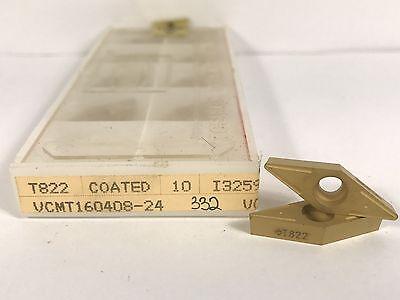 Tungaloy Vcmt160408-24 New Carbide Inserts Grade T822 10pcs Y