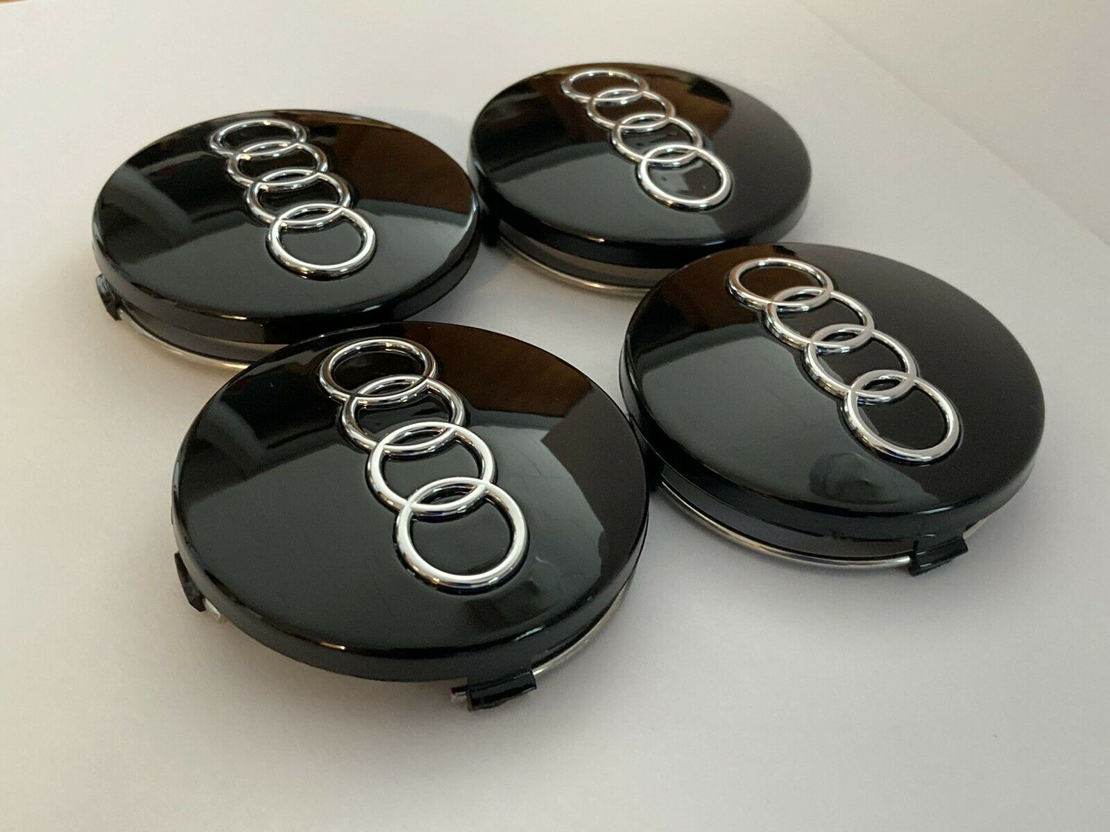 4x Audi Wheel Center Cap 60MM Fits A3 A4 A6 A8 S4 TT Q7 S4 S6 S8