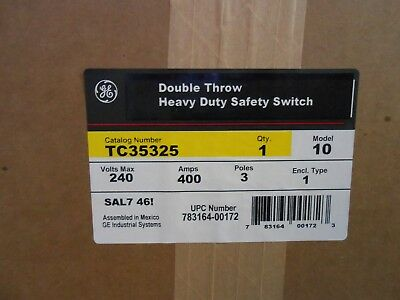 Ge Tc35325 Double-throw Transfer Switch 240 Vac 400 A 3p - New In Box