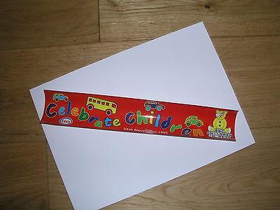 Children in Need vinyl window sticker, 1995, excellent used condition