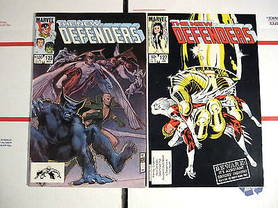 THE NEW DEFENDERS LOT 2 BOOKS125(VF-) & 127(VF/NM) FIRST PRINTS MARVEL 1984