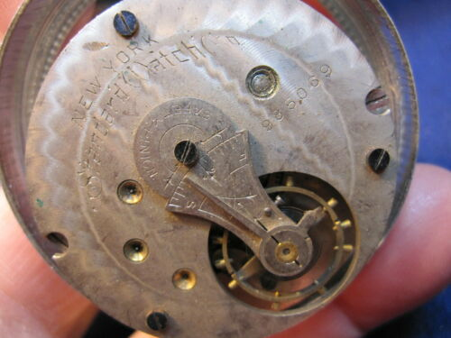18s New York Standard LS HC pocket watch movement ticking