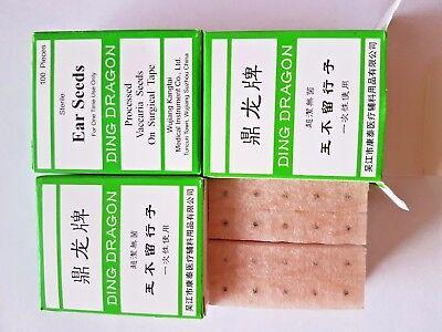 Speziell für Ohrakupunktur  Ohrkugeln  100St. ear seeds brauner Pflaster