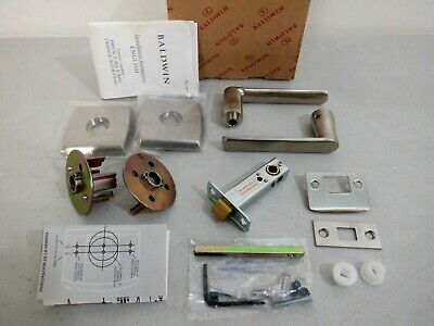 Baldwin 5485.056.PASS Passage Lever Latchset PVD Satin Nickel Door Handle Set