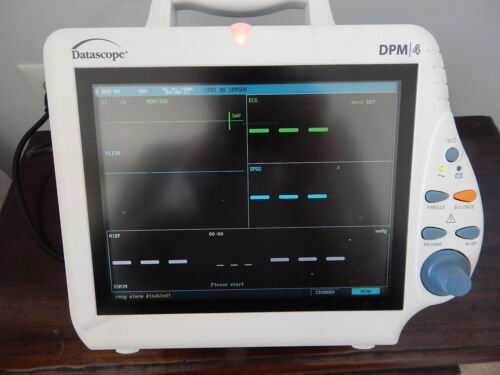 Mindray DPM4  Monitor  Tested with ECG leads