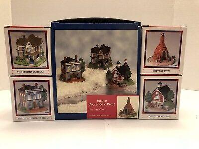 Liberty Falls Village set of  3 Cummings House, Insurance Co. & Shop + bonus