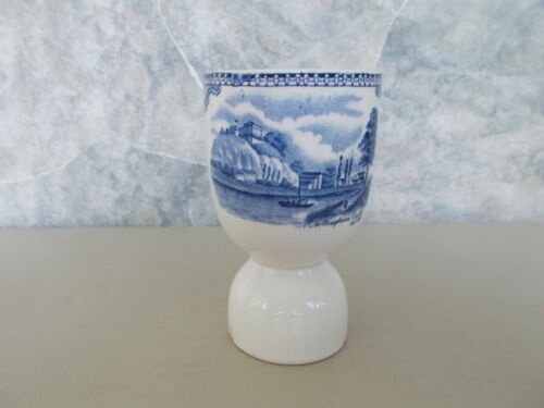Vintage Blue Old Britain Castles Double Egg Cup Johnson Brothers