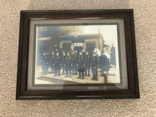 Antique 1907 Cabinet Photo Police Headquarters Framed - Dunsmore Photo