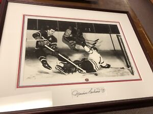 Signed Maurice Richard Hockey picture