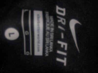Nike Women Cropped Dri-Fit Leggings Black And Pink Large