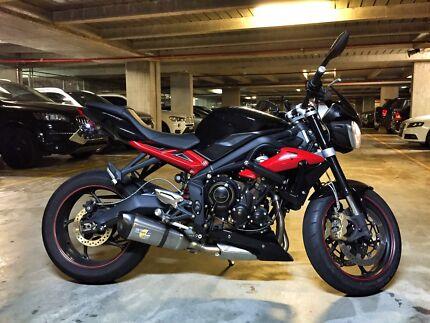 2013 Triumph Street Triple R (leovince  sbk exhaust) Rhodes Canada Bay Area Preview