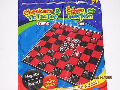 Magnetic Travel Checker Board Game - Everything Stays Put Play In Car On The Go - Magnetic Travel Games