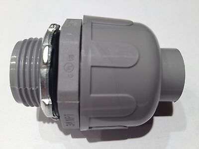 "1/2"" Non-Metallic Liquid Tight Electrical Conduit Straight Fitting / Connector"