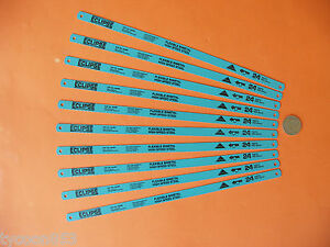 HACKSAW-BLADES-BI-METAL-24T-x-12-Pk10-ECLIPSE-TOOLS-of-SHEFFIELD-ENGLAND