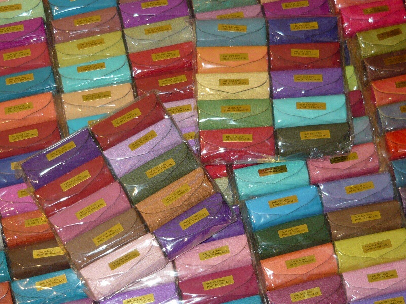 Lippenstift Etui - Mini Schminkspiegel - umspannt mit Thai Seide - Handarbeit