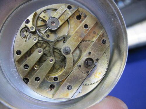 44mm Swiss key wind bar type pocket watch movement ticks