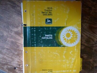 John Deere 3010 Tractor Parts Catalog Manual Book Original Pc-690 Sn -049999