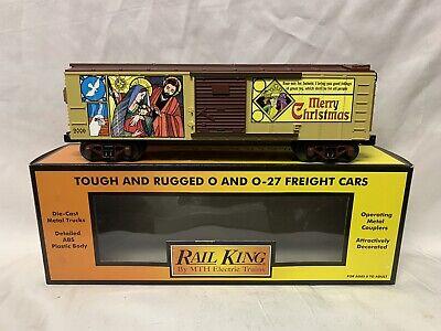 ✅MTH RAILKING 2006 CHRISTMAS BOX CAR 30-74357! FOR O GAUGE TRAIN SET HOLIDAY