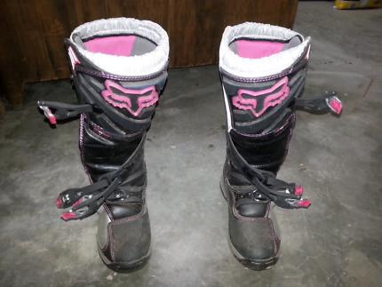 Fox Comp 5 Womans Boots Size W9/Euro 41 MX Dirt Bike Boots