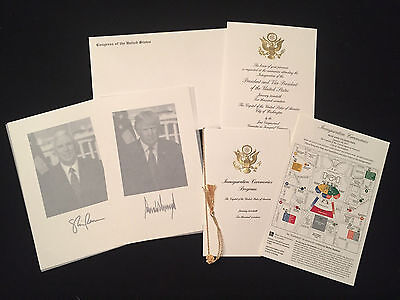 Mike Pence President Donald Trump Inauguration Invitation 2017 Photos Map Invite