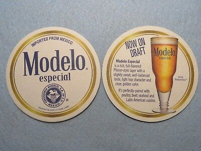 Beer Coaster: Cerveceria MODELO Now On Draft ~ Imported from MEXICO ~ (Modelo Now)