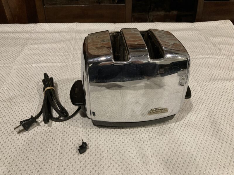 Sunbeam Toaster Model T-35 Chrome  Parts Or Repair Read Description Not Working
