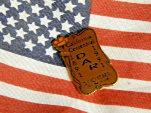 Retired DAR California State Centennial - 1891 - 1991 - J E Caldwell Gold Filled