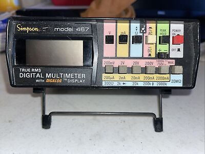 Simpson True Rms Digital Multimeter Model 467 M-317