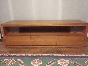 SOLID Tasmanian Oak 3 drawer TV Unit - excellent condition! Macquarie Park Ryde Area Preview