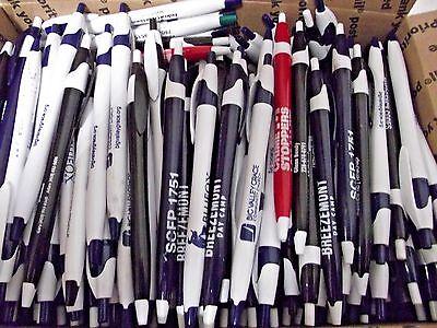 Wholesale Lot 300 Misprint Ball Point Plastic Retractable Pens